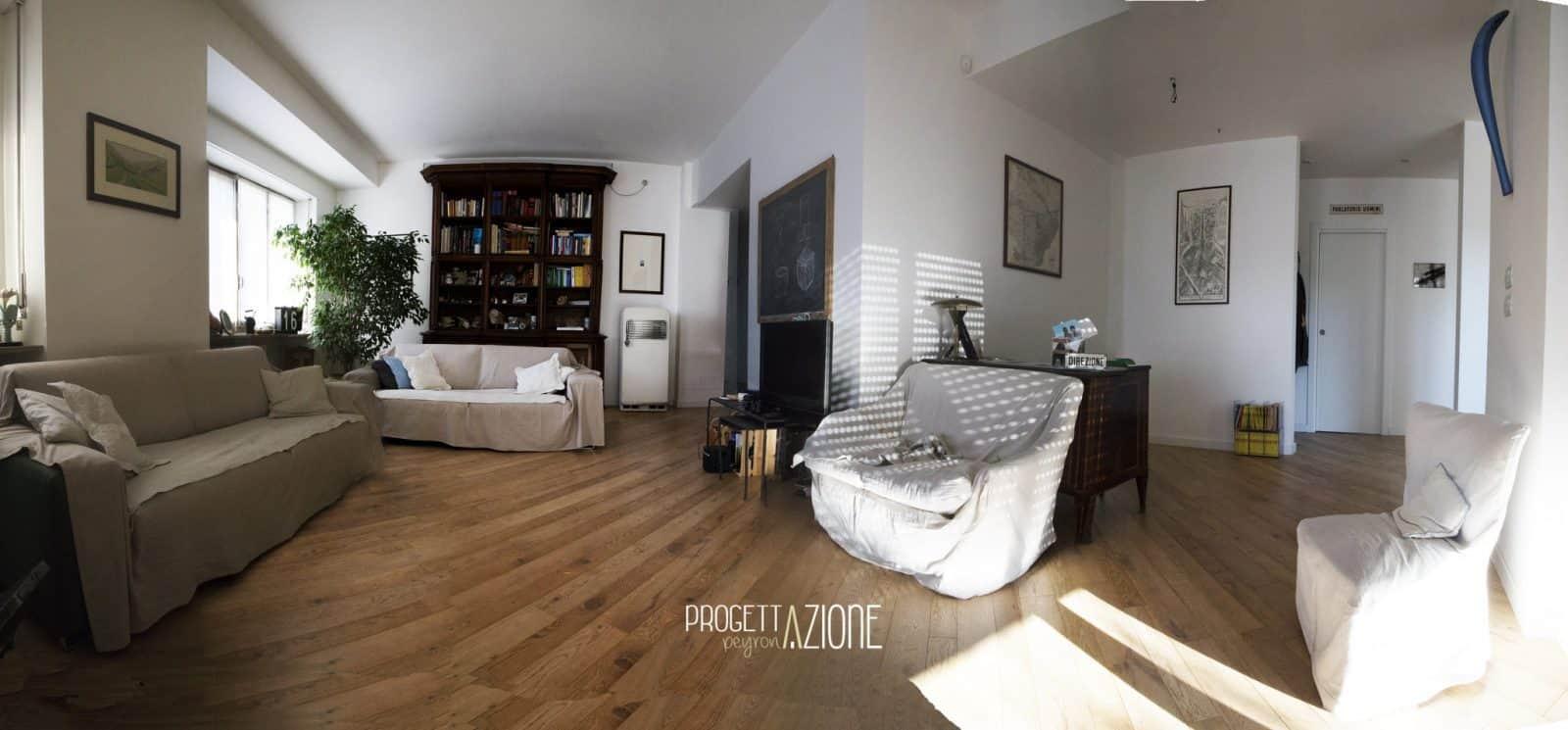 Ristrutturazione Soggiorno appartamento Corso Galileo Ferraris Torino